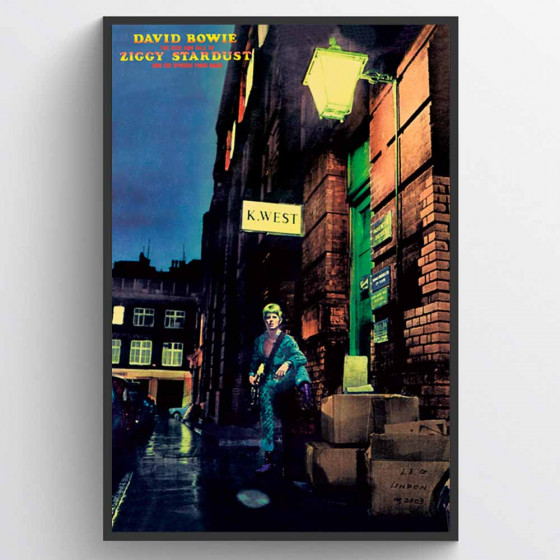 David Bowie - Ziggy Stardust Poster wallsticker