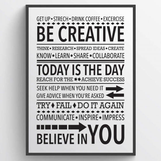 Be creative poster wallsticker