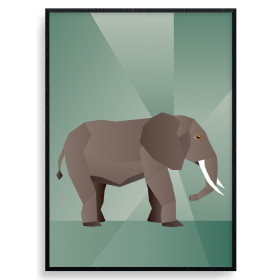 Polygon Elephant Poster wallsticker