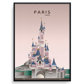 Paris Disneyland Poster wallsticker