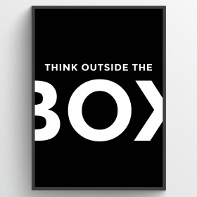 Think outside the box - poster wallsticker