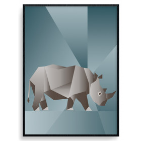 Polygon Rhino Poster wallsticker