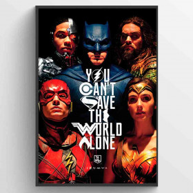 Justice League Movie Save the World Poster wallsticker