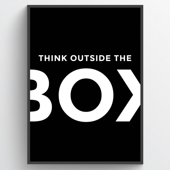 Think outside the box poster wallsticker