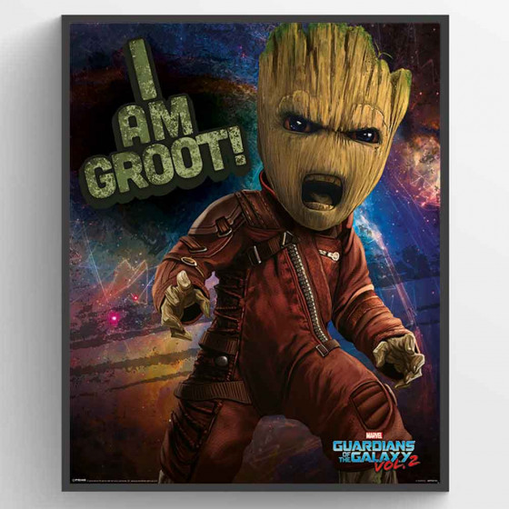 Guardians Of The Galaxy 2 - Angry Groot Poster wallsticker