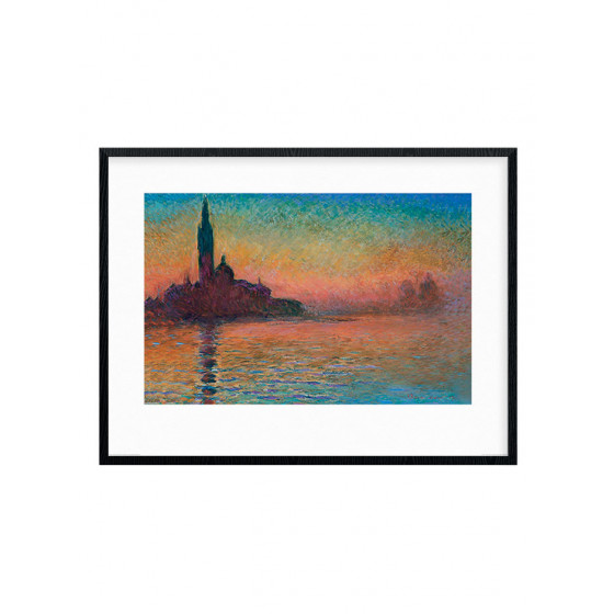 Monet - Sunset in Venice Poster wallsticker