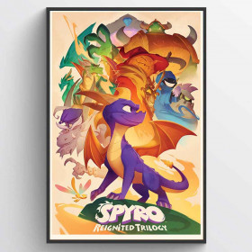 Spyro (Animated Style) Poster wallsticker